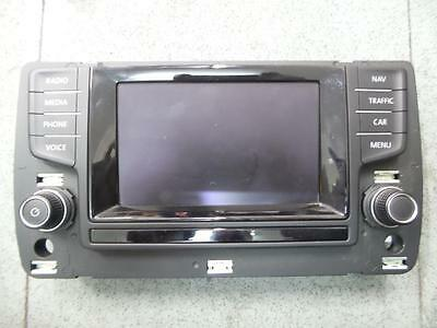 Volkswagen Golf Radio/cd/dvd/sat/tv Sat Nav Unit, Gen 7, 04/13- 13 14 15