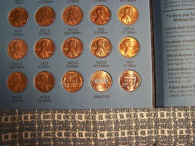 LINCOLN WHEAT 1941-1958 + MEMORIAL 1959-1974 CENTS with WHITMAN FOLDER
