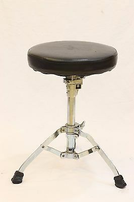 Pearl Percussion Drum Throne Instrument Seat Chair Stool Round Top Black