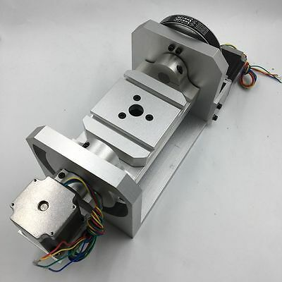 A Axis 4th Four Axis Dividing Head Ratio 8:1 for CNC Router Engraving Lathe