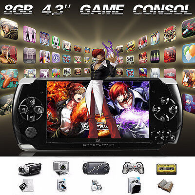 4.3'' 32-Bit 8G Memory Portable Handheld Game Console Player GBA/NES 1000 Games