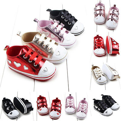 Newborn Baby Girl Crib Shoes Infant Toddler Soft Sole Anti-slip Sneakers 0-18M