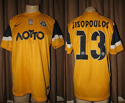 Match worn / issued Asteras Tripolis 2013 away shirt Zisopoulos 13 v Rapid Wien