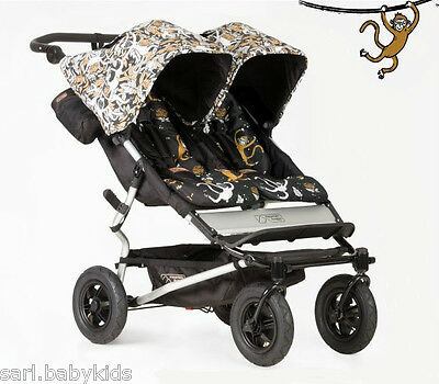Poussette double Mountain Buggy Duet 2.5 years and monkey - édition spécial 2016