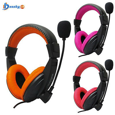 3.5mm Stereo Earphone Headband Gaming Headset With Microphone For PC Notebook