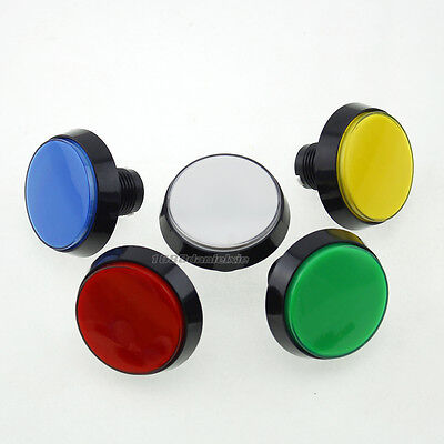 5 Pcs 60mm LED Illuminated Push Buttons + Micro Switch For Arcade Game Consoles