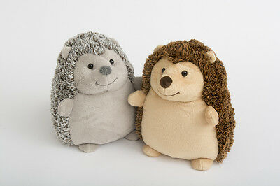 Cute Fluffy Soft Grey / Brown Fabric Hedgehog Door Stop Stopper Animal Home Gift