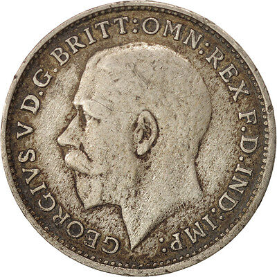 Great Britain, George V, 3 Pence, 1921, Silver, KM:813a