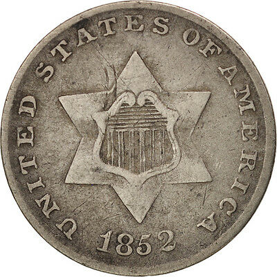 [#97775] United States, Silver 3 Cents, 1852, U.S. Mint, VF, KM:75