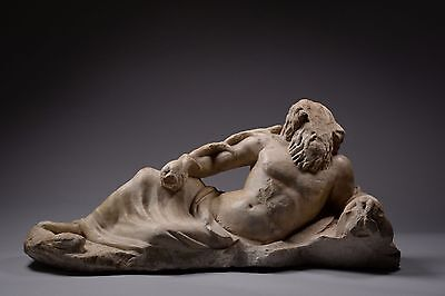 Ancient Roman Marble Statue of a Reclining River God - 200 AD • CAD $51,029.98