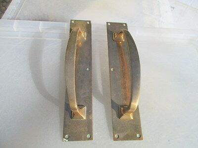 Vintage Bronze Door Handles Shop Pulls Architectural Antique Art Deco Old