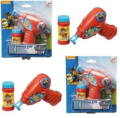 Paw Patrol Bubble Gun Shooter With Free Bubble Solution Boys Xmas Gift 3+ Toy