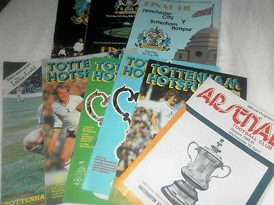 Complete Set Of Programmes From Spurs Tottenham Hotspur 1981 Winning Fa Cup Year