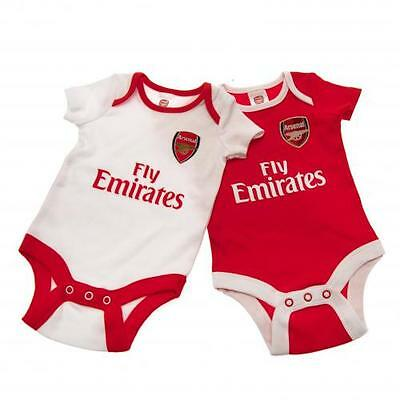 Official Licensed Product Arsenal 2 Pack Bodysuit 12/18 Months Captain Babygrow