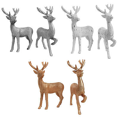 Stag Reindeer Christmas Ornaments 20cm Set of 2