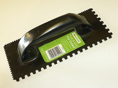 Homebase Plastic Floor & Wall Tile Trowel Small & Large Knotches - NEW!