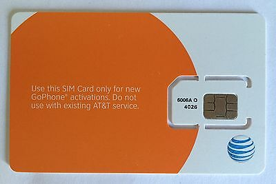 AT&T Regular Standard Sim Card - Unactivated Zero Credit US Travel Att