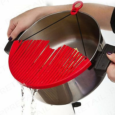 WONDER STRAINER Pot/Pan/Bowl Draining Sieve/Colander Adjustable Kitchen Drainer