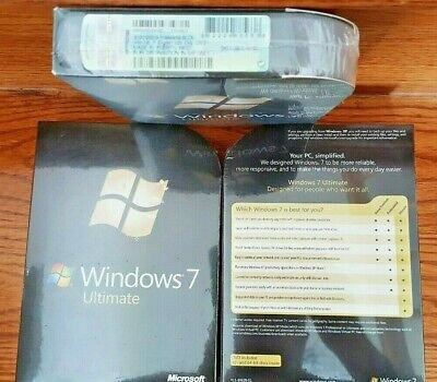 Microsoft Windows 7 Ultimate,SKU GLC-00182,Full Retail Sealed Box,32&64-bit disk