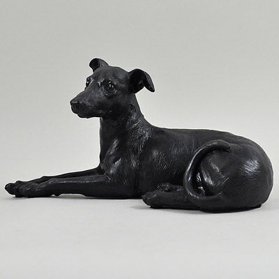 Large Greyhound Whippet Painted Bronze Sculpture Dog Pet Gift Home Decor 39411