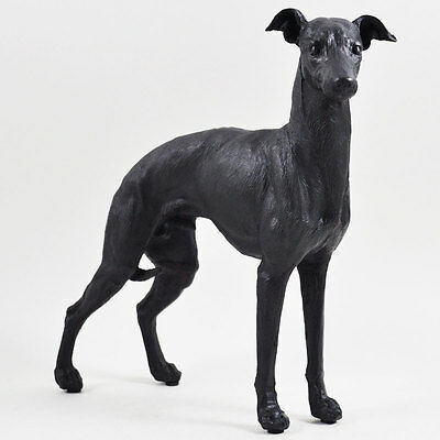 Large Greyhound Whippet Painted Bronze Sculpture Dog Pet Gift Home Decor 39412