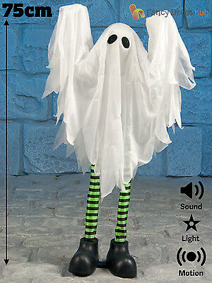 Animated Standing Ghost Prop Halloween Kids Party Decoration Sound Movement 75cm