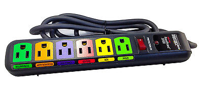 Monster Power AV600 Home Theater Surge Protector - Advanced Surge Protection