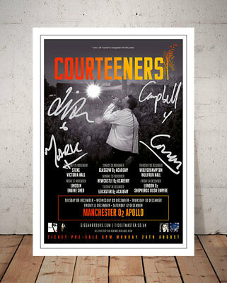 Liam Fray Courteeners Tour 2015 Concert Flyer Autographed Signed Photo Print