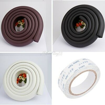 2M Baby Kid Soft Safety Foam Desk Table Edge Cover Guard Protector Cushion Strip