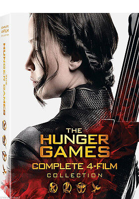 The Hunger Games: The Complete 4-Film Collection (DVD, 8-Disc Set) New