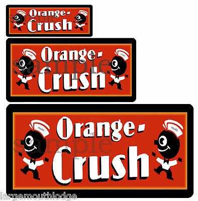 Orange Crush 3 Decal Sheet Northwestern Gumball Soda
