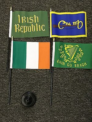 Irish Republic Hand Table Flag Erin Go Bragh Ireland Eire Republican 1916 Rising