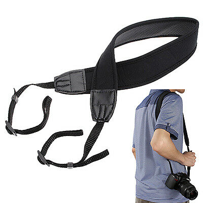 Black Quick Rapid Shoulder Sling Belt Neck Strap For Universal Camera DSLR SLR