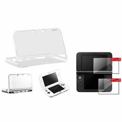 Insten Clear TPU Case + Top/Bottom Screen Protector For Nintendo NEW 3DS XL / LL