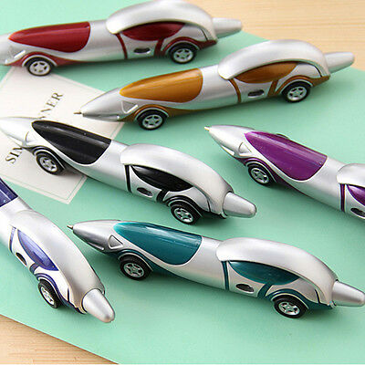 2Pcs Racing Car Shaped Ballpoint Pen Stationery Office Ball Point Novelty Gifts