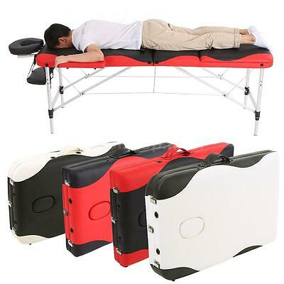 ABODY 3 Fold Massage Bed 84''L Portable Table Facial SPA Tattoo Bed Durable J0W4