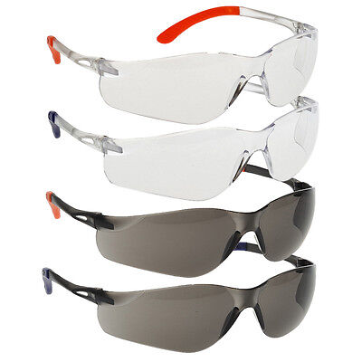 Portwest Pan View Work Safety Spectacle Glasses Anti Scratch Fog Wrap EN166 PW38