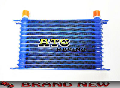 Universal 13 Row 50Mm Engine Alloy Race Oil Cooler An10 Blue