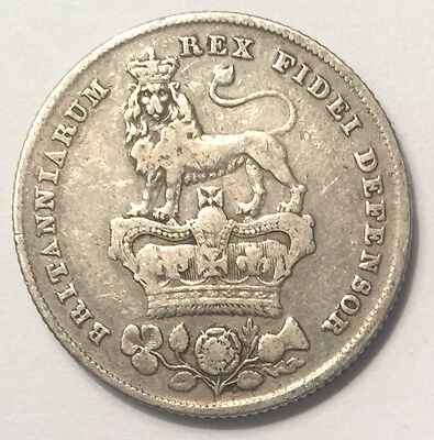 1826 George IV Shilling coin