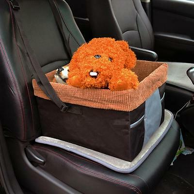 Box Dog Booster Seat for Cars with Seat Belt Tether Travel Pet Car Carriers