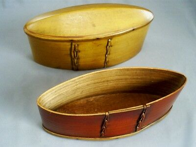 C19Th Fine Antique Scandinavian/swedish Treen/bentwood Oval Tina Box Or Svepask