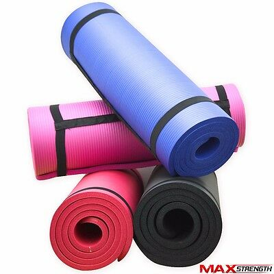 MAX NBR 15mm Extra Thick Yoga Mat Fitness Exercise Non-Slip Foam Gym Training