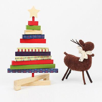 1PC New Fashional Wooden Rotary Tabletop Christmas Tree Home Decoration