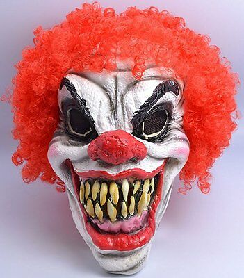 Fancy Dress Scary Clown Mask Halloween Horror Accessory Mask and Wig