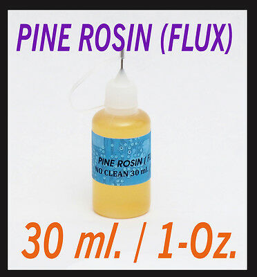 30ml / 1oz  Rosin No Clean Soldering Solder Liquid Flux Reflow NEEDLE TIP BOTTLE