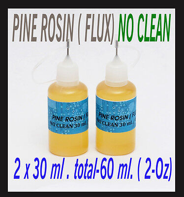 60 ml.   Rosin No Clean Soldering Solder Liquid Flux Reflow NEEDLE TIP BOTTLE