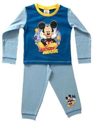 OFFICIAL DISNEY MICKEY MOUSE Garçons Set Pyjama Pyjamas 1 2 3 4 Ans NEUF