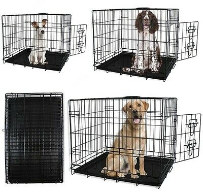 Dog Cages Puppy Small Medium Large Crates Pet Carrier Training Cage