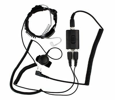 Military Police Throat Mic Air Tube Headset for Kenwood Puxing Wouxun Ham Radio
