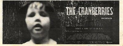9/11/91 Pgn59 Advert: The Cranberries Debut 4 Track Single uncertain 4x11""